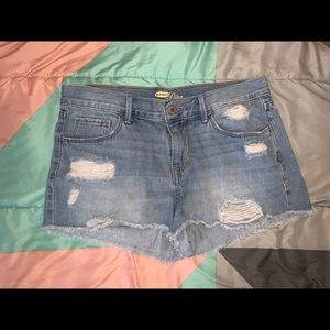 Old navy jean shorts.